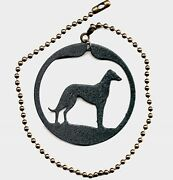 Greyhound Or Whippet Dog Fan Pull Black New In Package