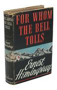 For Whom The Bell Tolls By Ernest Hemingway First Edition 1st Issue Dj 1940