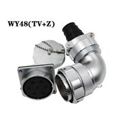 Wy48tv+zstraight-bent Type Double Pressure Plate Cable Plug Square Flange Socket