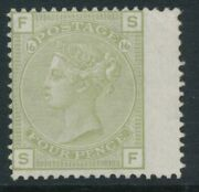 Sg 153 4d Sage Green Plate 16 Very Lightly Mounted Mint. Cat Andpound1400