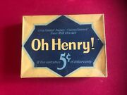 1940's, Oh Henry, 24 Ct Candy Bar Display Box Scarce / Vintage