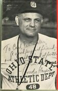 Woody Hayes Signed Autographed 1968 Ticket Rare Inscribed To Carl Rentschler Nfl
