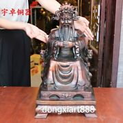 60 Cm Chinese Bronze Copper God Of Wealth Fortune Mammon Old Man Fengshui Statue