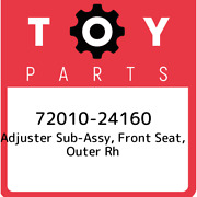 72010-24160 Toyota Adjuster Sub-assy Front Seat Outer Rh 7201024160 New Genui