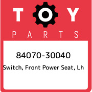 84070-30040 Toyota Switch Front Power Seat Lh 8407030040 New Genuine Oem Part