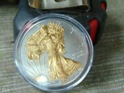 2013 1 Oz American Eagle 24k Gold Two Toned 1 One Dollar Coin .999 Silver Wow