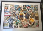 """Vintage Framed Travel Poster Reproductions Art Deco Look 40 Qty 4"""" X 6"""""""