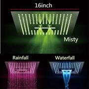 Cascada Luxurious Recessed Large Led Waterfall Rainfall Shower Head System