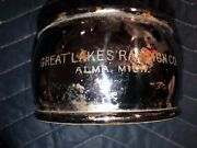 Nos Great Lakes Reflector 2 Sided Red Glass Lens Early Auto Truck Vintage Car