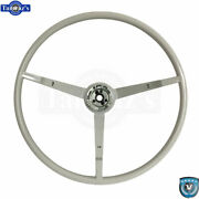65-66 Ford Mustang Correct 15 Reproduction O.e. Style Steering Wheel - White