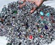 2000pcs Rings Wholesale Lot Mixed Gemstones 925 Sterling Silver Plated Whr-19
