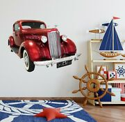 3d Vintage Car T130 Car Wallpaper Mural Poster Transport Wall Stickers Sunday