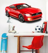 3d Ford Mustang T176 Car Wallpaper Mural Poster Transport Wall Stickers Sunday