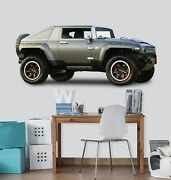 3d Hummer T177 Car Wallpaper Mural Poster Transport Wall Stickers Sunday