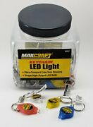 Lot Of 100 Maxcraft 60507 Keychain Led Lights Counter Display C-store