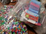Large Lot Of Letter Beads And Colored Plastic Beads, Over 4 Lbs. Crafting