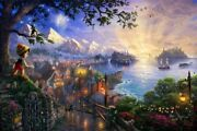 Thomas Kinkade Pinocchio Wishes Upon A Star 12 X 18 Le S/n Unframed
