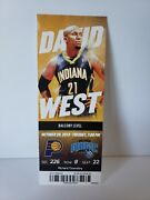 Victor Oladipo First Nba Game Full Ticket Magic Vs Pacers 12 Point Game