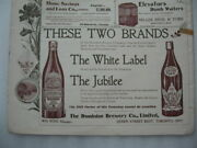 1900 Dominion Brewery Jubilee Beer Bottle Sign Poster Toronto Ontario Ale Label