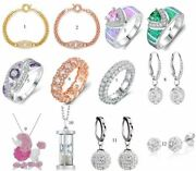 Crystal Earrings, Rings, Necklaces And More