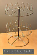Rare Brass Mid Century Spinning Shoe Rack Retro Decorator Atomic Vtg 50and039s 60and039s