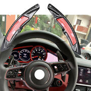 Car Steering Wheel Shift Lever Paddle Cover For Porsche With Sport Button Model