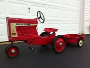 Vintage Ertl Farmall 806 Pedal Tractor With Matching Wagon Original Owner