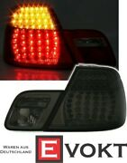 Led Rear Light Set In Smoke For Bmw E46 Convertible Rear Lights Mcp New