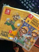 Super Mario Maker 2 With Collectible Lunch Box Brand New Sealed