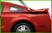 2005 - 2009 Ford Mustang Spear Quarter Panel Stripes Style 2