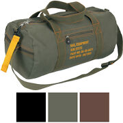 Cotton Canvas Travel Equipment Flight Carry Duffle Shoulder Bag Small Or Large