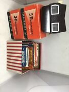 Lot Of 2 View-master 3-dimension 3d Viewer Model E And 18 Slides