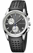 Calvin Klein K5a371c3 Bold Chronograph Anthracite Dial 41mm Swiss Made Watch