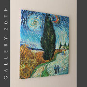 Impressionist Oil Painting Van Goghand039s Road With Cypress And Star Art Re-creation