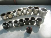 16 Snap-on, Williams, Proto 3/4 And 1 Drive Large Sockets 1-7/16 To 2-15/16