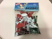 1980's Randtoy Plastic Baseball Figures Players 18 Pieces With Playing Field