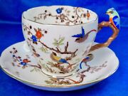 Royal Grafton Scarce Birds On Branches Fancy Bird Handle Cup And Saucer