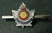 Vintage Blood And Fire Salvation Army Enameled Sterling Silver .925 Lapel Pin