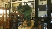 Dinosaur Sculpture Movie Prop Quality Dilophosaurus With Stand 1st Two Pictures