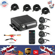 4ch Vehicle Car Mobile Dvr Security Video Recorder +4 Night Vision Cctv Camera