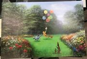 Disney Winnie The Pooh- Rescuing Piglet Le Giclee Canvas By Peter Ellenshaw