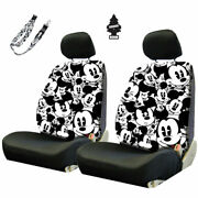 For Ford New Mickey Mouse Sideless Car Auto Seat Covers Accessories Set