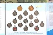 Canada 25 Cents 17 Coin Set 2010 Vancouver Olympic Canada Mint Circulation Coins