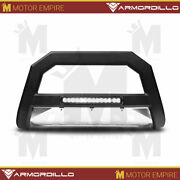Matte Black Ar Series Bull Bar W/ Skid Plate And Led For 2006-2010 Jeep Commander