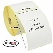 Royal Mail Compatible 4x6 100x150mm Direct Thermal Labels Zebra Printers 4 X 6