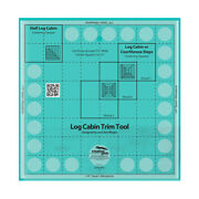 Creative Grids Log Cabin Trim Tool For 8in Finished Blocks Quilt Ruler