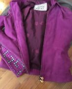 S/s 2000 Vintage Gianni Versace Suede Leather Jacket 40
