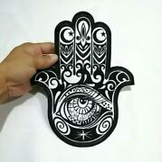 Hamsa Eye Of Fatima Seeing Amulet Hand Symbol Embroidered Iron-on Sew-on Patch