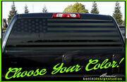 American Flag Pick-up Truck Back Window Decal Universal - Fits Tacoma Tundra