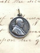 Pope St John Xxiii / Peter And Paul Medal - Sterling Silver Antique Replica